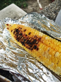 Grilled Corn from Finga Lickin Jamaican Jerk Spot of Queens, NY